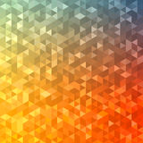 Polygonal abstract Background - red, yellow, orange, blue Stock Image