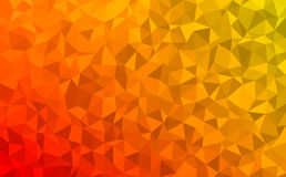 Polygonal abstract Background - red, yellow, orange Stock Photos