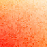 Polygonal abstract Background - red, yellow, orange Stock Photography