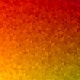 Polygonal abstract Background - red, yellow, orange Royalty Free Stock Photography