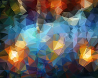 Polygonal Abstract background. Royalty Free Stock Photos