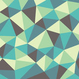 Polygonal abstract background - vector pattern in yellow, green, aquamarine, brown colors Royalty Free Stock Image
