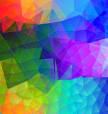 Polygonal abstract with bright colors Stock Photos