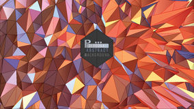 Polygonal abstract colorful background vector Royalty Free Stock Photography