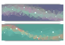 Polygonal abstract geometrical web banner Royalty Free Stock Photo