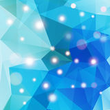 Polygonal abstract geometry background with shiny elements Royalty Free Stock Photography