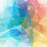 Polygonal abstract geometry background with shiny elements Royalty Free Stock Images