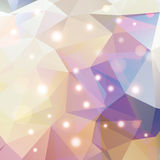 Polygonal abstract geometry background with shiny elements Stock Image