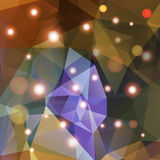 Polygonal abstract geometry background with shiny elements Stock Photography