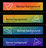 Polygonal abstract modern  banner background template vector Stock Image