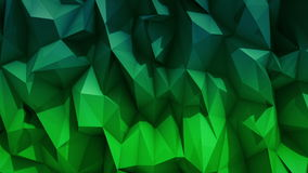 Polygonal abstract surface. Semless loop 3D render stock footage