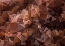Polygonal Abstract triangle brown texture background Royalty Free Stock Photography