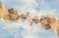 Polygonal abstract vector background Stock Photography