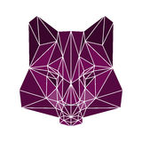 Polygonal abstract wolf isolated on a white background. Polygonal abstract bright coloterd wolf isolated on a white background royalty free illustration
