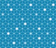 Polygonal abstrakt bakgrund Anslutningsbegrepp Royaltyfri Bild
