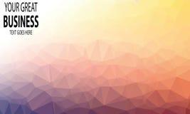 Polygonal abstrakt bakgrundsvektor Royaltyfri Foto