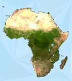 Polygonal Africa Map Stock Image