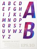 Polygonal alphabat font vector eps.10.  Stock Illustration