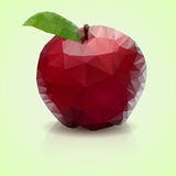Polygonal apple Stock Images