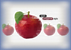 Polygonal apples with dotted background Stock Photography
