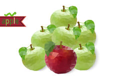 Polygonal apples Stock Image
