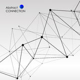 Polygonal background with abstract molecular connection royalty free illustration