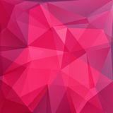 Polygonal background-14. Abstract pink polygonal pattern with mosaic triangles. Design element for banners or wallpapers Royalty Free Stock Images