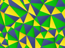 Polygonal background with Brazil flag colors Stock Photo