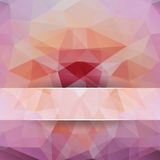 Polygonal background for design Royalty Free Stock Photography