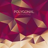 Polygonal background banner with triangles. Polygonal background geometric banner triangles stock illustration