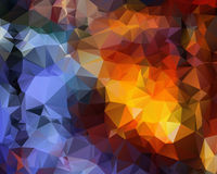 Polygonal background illustration. Royalty Free Stock Image