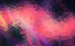 Polygonal Background, pink and dark color. Creative Design Templates. Abstract polygon vector background. Abstract Background of. Geometric shapes. Retro stock illustration