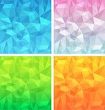 Polygonal background  set Stock Photo