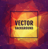 Polygonal background. Vector banner. Royalty Free Stock Photography