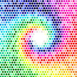 Polygonal Background for webdesign - Blue, purple, green, yellow colors Royalty Free Stock Photo