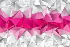 Polygonal bakgrund Abstrakt triangulated textur Arkivfoto