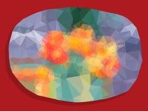 Polygonal bakgrund för abstrakt livlig färg Royaltyfri Foto