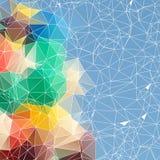Polygonal bakgrund för abstrakt triangel Royaltyfria Bilder