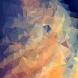 Polygonal bakgrund för abstrakt triangel Royaltyfri Bild
