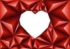 Polygonal bakgrund för abstrakta hjärtor för triangel geometriska Royaltyfri Foto