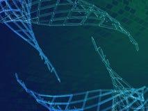 polygonal bakgrund för blå gräsplan för geometri 3d Arkivfoton