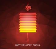 Polygonal bakgrund för kinesisk mitt- höstfestival Lotus lykta stock illustrationer