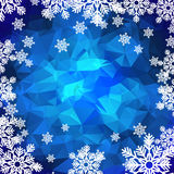 Polygonal bakgrund för snöflingor Royaltyfri Bild