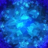 Polygonal bakgrund för snöflingor Royaltyfria Bilder