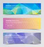 Polygonal baner för modern bakgrundsdesign för affär Arkivfoton