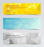 Polygonal baner för modern bakgrundsdesign för affär Arkivfoto