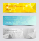 Polygonal banners for business modern background design Stock Photo
