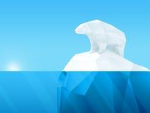 Polygonal bear on iceberg Stock Image
