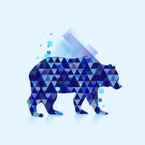 Polygonal bear logo Royalty Free Stock Photo