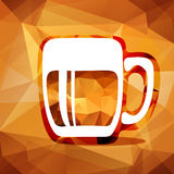 Polygonal beer glass Royalty Free Stock Photography
